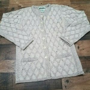 XS Aran Crafts Merino Wool Cardigan